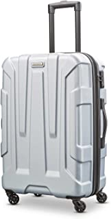 Samsonite Centric Expandable Hardside Checked Luggage with Spinner Wheels, 24 Inch, Silver
