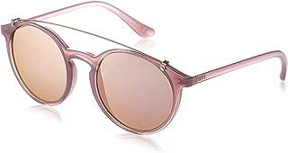 Vogue Women's Plastic Woman Non-Polarized Iridium Round Sunglasses, Opal Pink, 51 mm