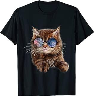 Brown Tabby Kitten in Galaxy Sunglass, Cat, T-Shirt