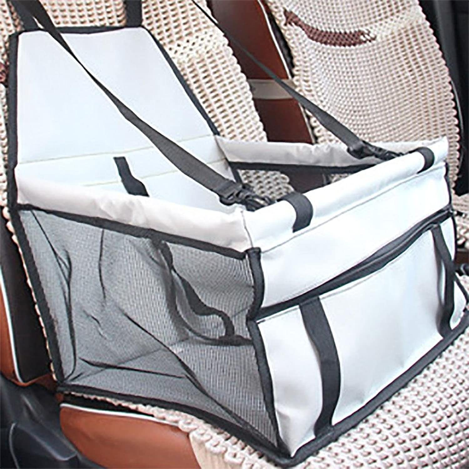 MYYXT Pets Car Seat Breathable Foldable Waterproof Bag Pet Carrier Travelling Car Cushion for Dog Cat