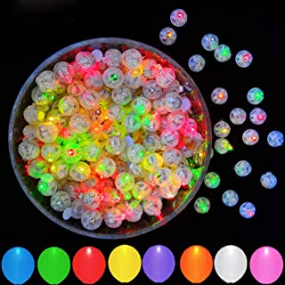 100pcs Multicolor LED Balloon Lights, JJGoo Round Mini Balls Led Flash Tiny Led Light for Paper Lantern Balloon Birthday Party Wedding Decoration…