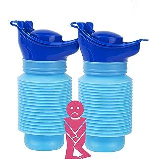 Vieil Homme Bouteille dincontinence en Plastique pour Hommes FBGood Urinoir Unisexe Blanc Femmes et Enfants Bassin de Pipi avec Couvercle Enfant et Diab/ète Bo/îte en Plastique pour Voiture