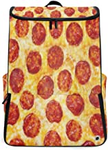 Pepperoni Pizza Italy Food Travel Duffel Backpack, Gym Backpack Outdoor Travel Bag with Shoe Compartment