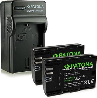 PATONA 4en1 Cargador + 2x Premium Batería LP-E6N compatible con Canon EOS 7D 6D 5D Mark II / III / IV 60D 70D 80D XC10
