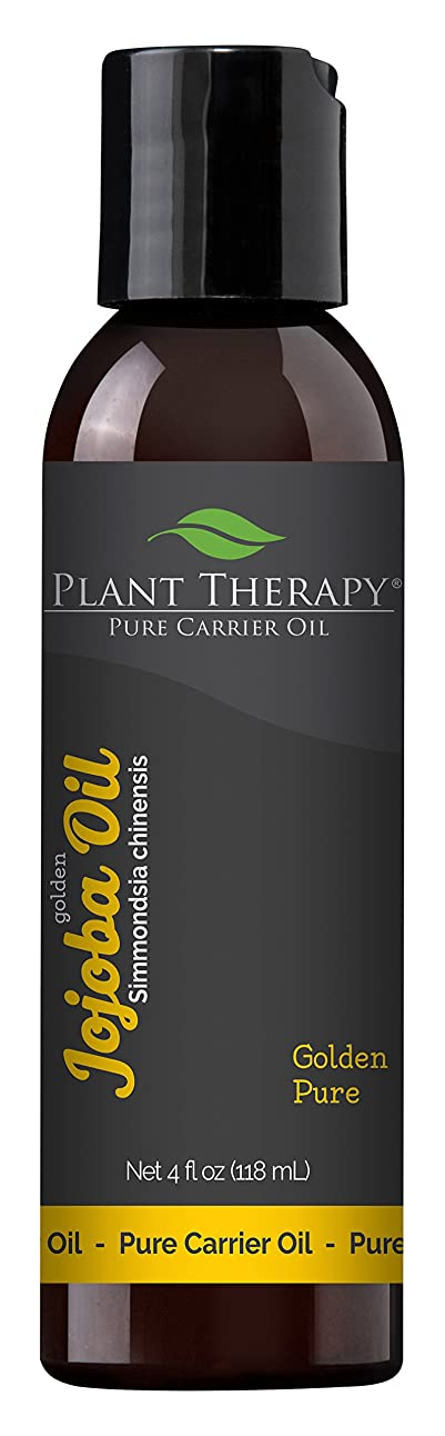 崇拝します特定のジャングルJojoba Oil 4 oz., 100% Pure, Cold-Pressed, Natural and GMO-free Moisturizer and Carrier Oil for Essential Oils by Plant Therapy by Plant Therapy Essential Oils