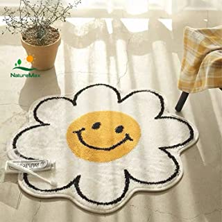 Sunflower Rug Smiley Face Rug Tapestry Cute Wall Decor Water Absorption Non Slip Carpet Super Soft Microfiber Staircase Pl...