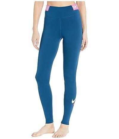 Nike One Tights Icon Clash (Valerian Blue/Cosmic Fuchsia/Limelight) Women