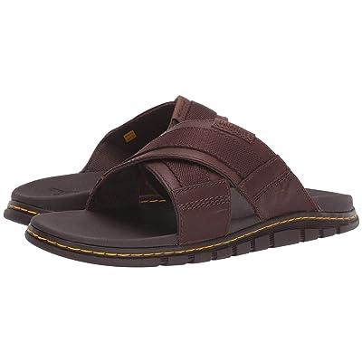 Dr. Martens Athens Slide (Tan/Dark Brown Carpathian/Webbing) Sandals