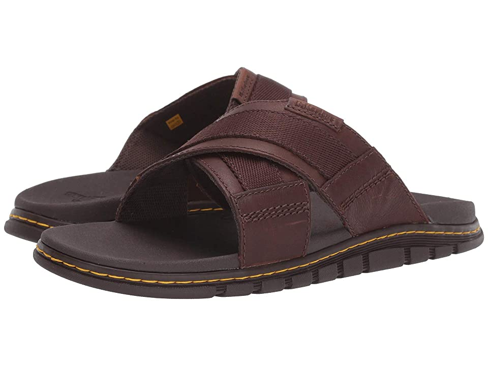 Dr. Martens Athens Slide (Tan/Dark Brown Carpathian/Webbing) Sandals