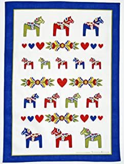 ScandinavianShoppe Dala Horse Kurbits Kitchen Towel