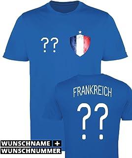 e4f2628377715 Comedy Shirts Garçon Maillot de Football imprimables – Nom et numéro  personnalisé – WM Tous