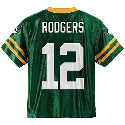 Outerstuff Aaron Rodgers Green Bay Packers  12 Green Youth Home Player  Jersey ea7b2e89d
