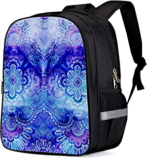 Children Primary School Bags Boho Paisley Floral India Bohemia Purple Print 3D Printing Kids Backpacks