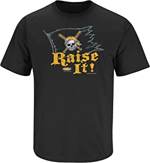 Pittsburgh Baseball Fans. Raise It! Black T-Shirt (S-5X)