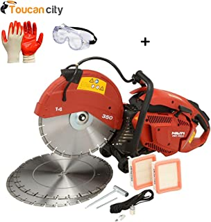 Toucan City Safety Goggles with Nitrile Dip Gloves (5-Pack) and Hilti DSH 700-X 70CC 14 in. Hand Held Gas Saw with Blades 3538196