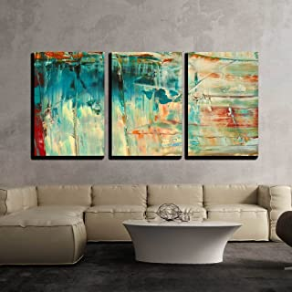 "wall26 - 3 Piece Canvas Wall Art - Abstract as Background - Modern Home Art Stretched and Framed Ready to Hang - 16""x24""x3 Panels"