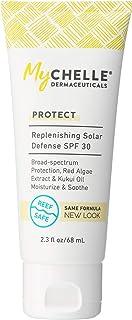 MyChelle Replenishing Solar Defense SPF 30, Zinc Oxide-Based Suncreen for Normal to Dry Skin Types, 2.3 fl oz