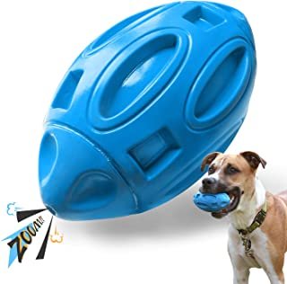 EASTBLUE Squeaky Dog Toys for Aggressive Chewers: Rubber Puppy Chew Ball with Squeaker, Almost Indestructible and Durable Pet Toy for Medium and Large Breed