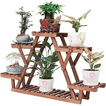 1 Tier Wooden Plant Pot Stand Flower Rack Garden Patio Holder Display shelf