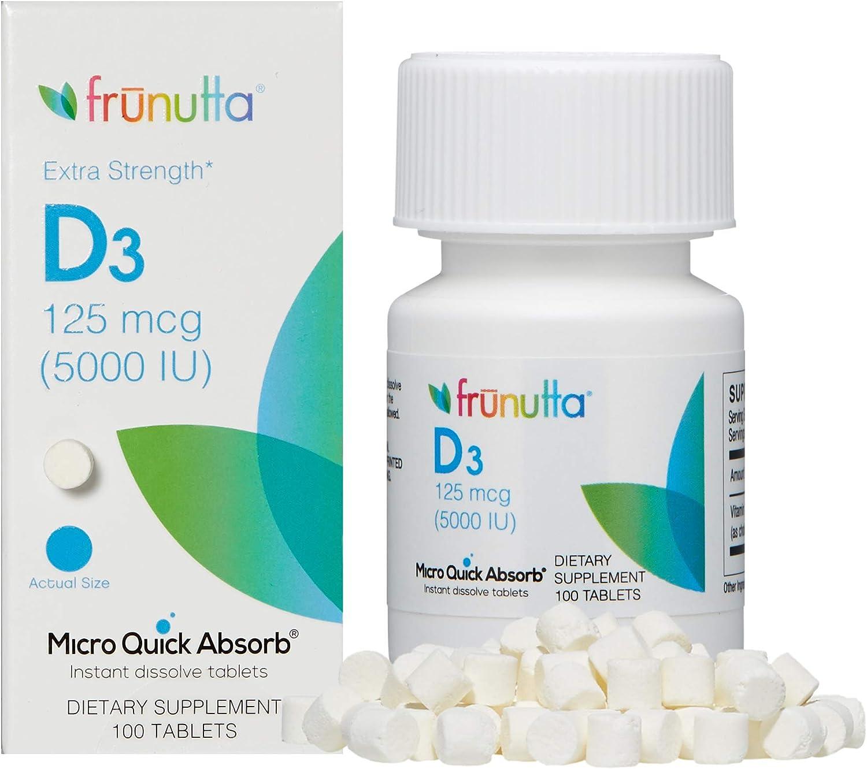 Frunutta Vitamin Max 89% OFF supreme D3 5000 IU Under Dissolve Tongue Instant The Ta