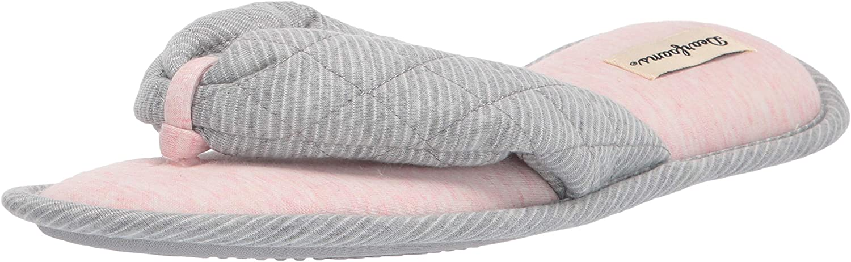 Dearfoams Women's Natalie Striped Thong Slipper