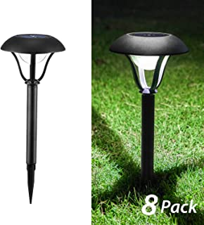 OxyLED Solar Path Lights Outdoor, 8 Pack Garden Stake Light Solar Powered Waterproof, Decorative Landscape Lighting with Auto On/Off Dusk to Dawn for Pathway, Lawn, Patio, Yard, Halloween, Christmas