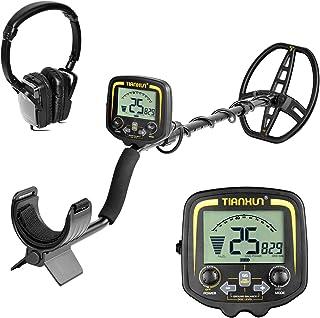 HOOMYA Detector de Metales subterráneo Profesional con Pantalla LCD y Auricular, Profundidad de 2,