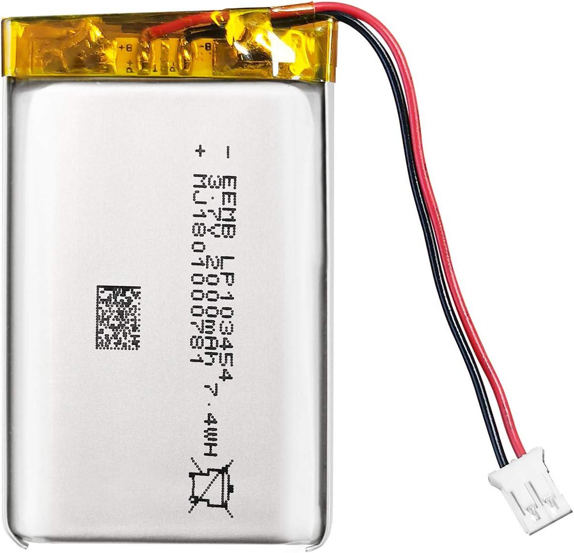 EEMB New product!! 3.7V National uniform free shipping Lithium ion Polymer Battery Batter 103454 2000mAh Lipo