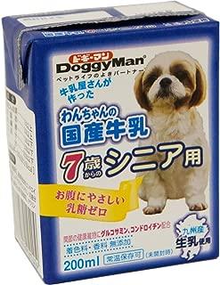 ドギーマン わんちゃんの国産牛乳 シニア用 200ml×24個 (ケース販売)