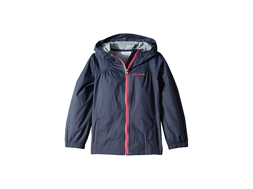 Columbia Kids Switchbacktm Rain Jacket (Little Kids/Big Kids) (Nocturnal/Wild Geranium) Girl