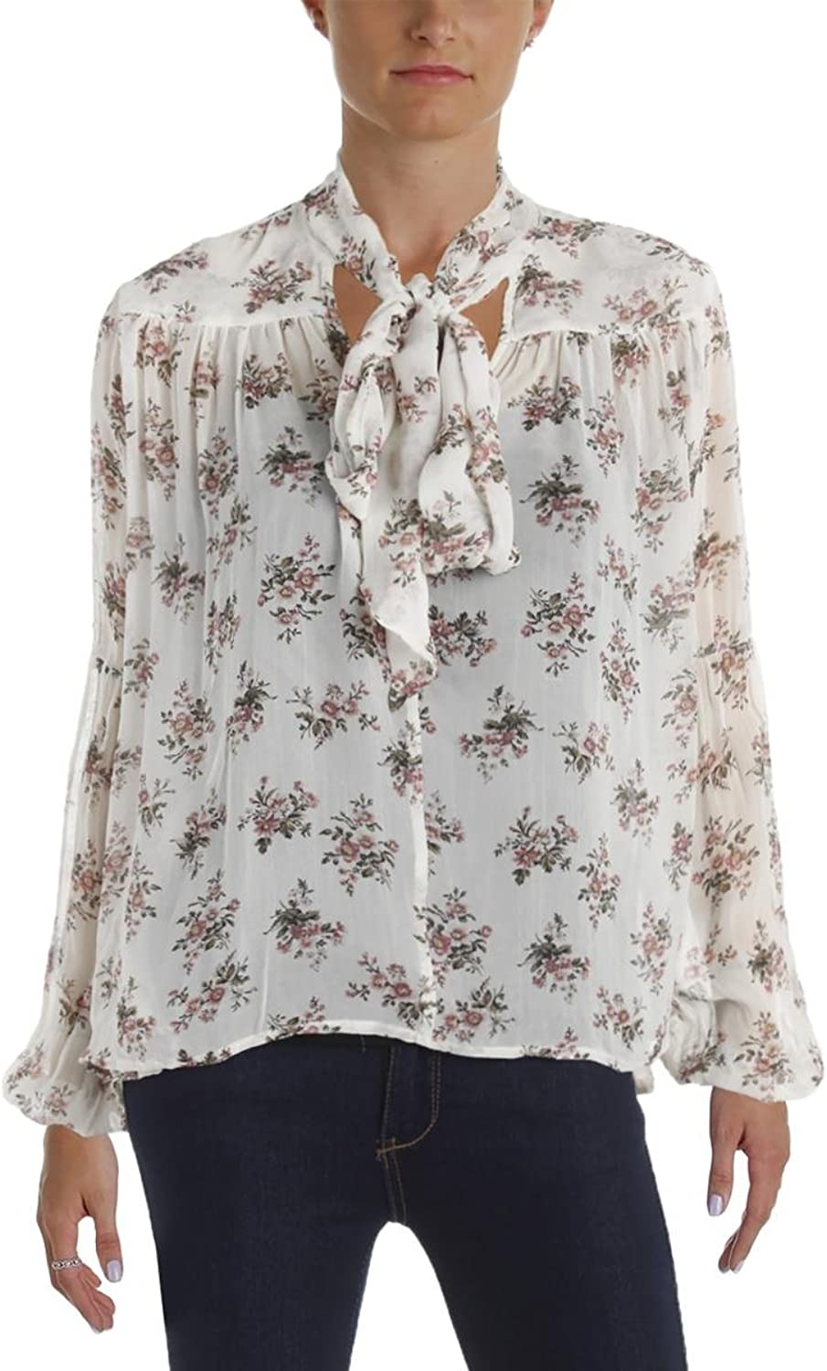 Denim & Supply Ralph Lauren Gauze Top (Euclid Floral Cream Combo, XS)