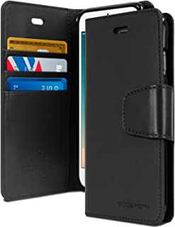 GOOSPERY iPhone 8 Case & iPhone 7 Case, [Wallet Case] Sonata Diary [Drop Protection] Premium PU Leather Case with TPU Casing [Card & Cash Slots] Flip Stand Cover for Apple iPhone 8 & 7, Black