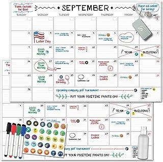 "$40 » X Large Dry Erase Wall Calendar - 24""x 36"" Premium Giant Oversized Undated Erasable Deadline Task Calendar for 2021 - Jumb..."