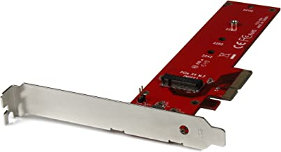 StarTech.com M2 PCIe SSD Adapter - x4 PCIe 3.0 NVMe/AHCI/NGFF/M-Key - Low Profile and Full Profile - SSD PCIe M.2 Adapter (PEX4M2E1)