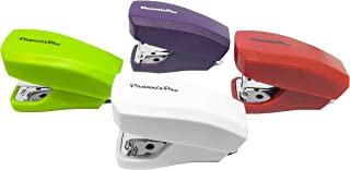 PraxxisPro, Mini Staplers, Built in Staple Remover, Staples 2 to 18 Sheets. Set of 4 (Red, Purple, White, Green) …