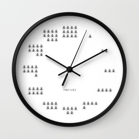 Time Flies Wall Clock | Society6