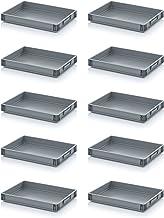 10x Eurobehälter-Eurobox 60 x 40 x 7,5 cm inkl. gratis Zollstock * 10er Set