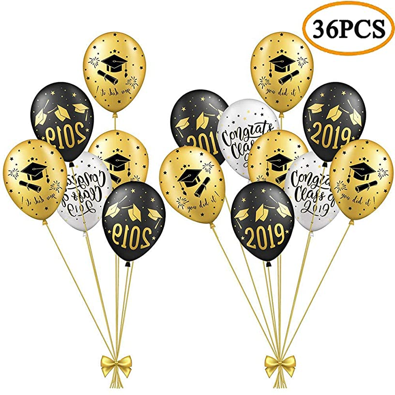 2019 Graduation Party Balloons Decorations - Class of 2019 Graduation Party Supplies Decorations 36Ct