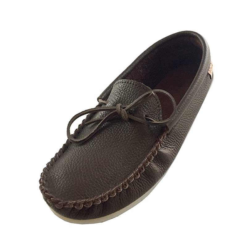 Laurentian Chief Men's Crepe Sole Genuine Rocky Oil Tan Leather Moccasins
