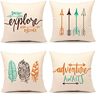 Inspirational Quote Throw Pillow Case Cushion Cover Decorative Cotton Linen 18