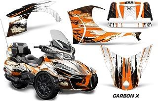 AMR Racing Graphics Can-Am Spyder RT-S Roadster Vinyl Wrap Complete Kit for Revised Smaller Nose Model - Carbon X Orange