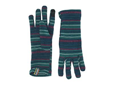 Smartwool Merino 250 Pattern Gloves (Peacock Margarita) Extreme Cold Weather Gloves