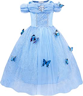 Cinderel Costumes Dress Princess Halloween Girls Birthday Party Cosplay Outfit Jewelry Accessories 2-12 Years