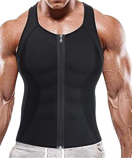 BRABIC Men Sauna Sweat Vest Tank Top Shirt for Weight Loss Waist Trainer Workout