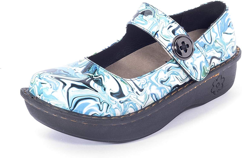 Savvy Mary Jane Slip-Resistant Blue Sea Medium Nursing Shoes