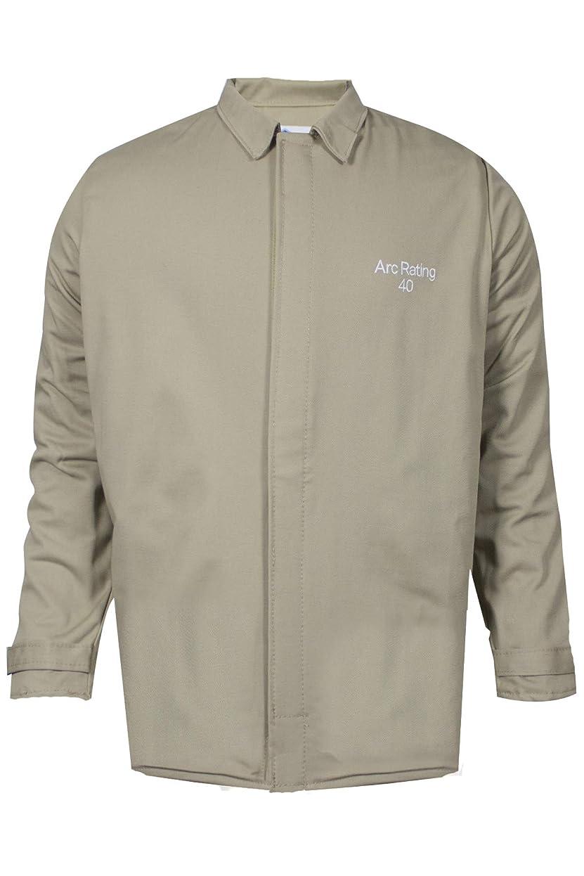 社会学爪証言National Safety Apparel C07HKHKECLG32 ArcGuard Economy Arc Flash Short Coat, Large, Khaki by National Safety Apparel Inc