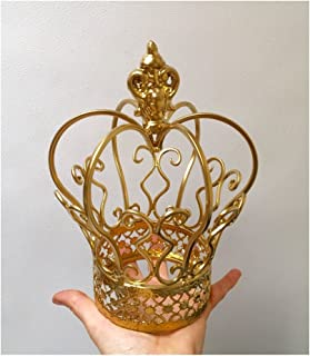 Gold Color Metal Crown for Flower Centerpieces or Cake topper (Gold)