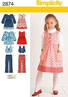 Simplicity Sewing Pattern 2874 Child Separates, A (3-4-5-6-7-8)