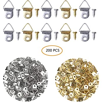 100 Pcs Small D Ring for Home Decoration Creative Picture Frame Hanging