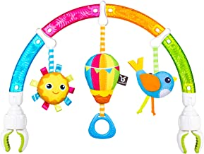 Benbat Dazzle Friends Stroller Play Arch Rainbow Toy - Fun Toys For Baby- Stroller Toys - Top Baby Toys - Tactile Sensory Toys